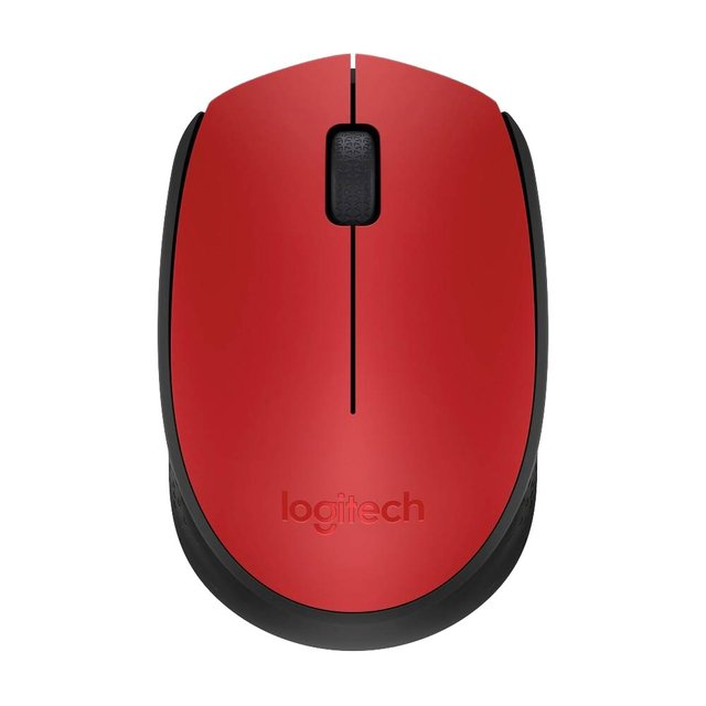 MOUSE LOGITECH M170 RED WIRELESS 1 PILA AA 10MTS 910-004941