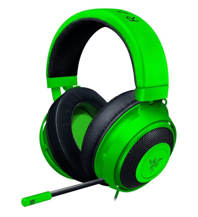 AURICULARES RAZER KRAKEN PC PS4 XBOX MOBILE CON CABLE GREEN - tienda online
