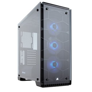 GABINETE CORSAIR CRYSTAL 570X RGB ALUMINIUM MID TOWER FAN X3