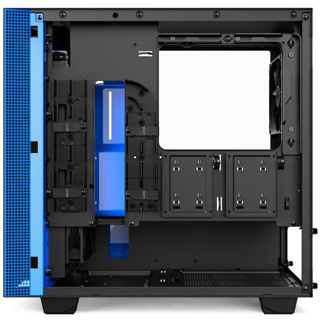 GABINETE NZXT H400 MATTE BLACK-BLUE MID TOWER FAN 3X 120MM en internet
