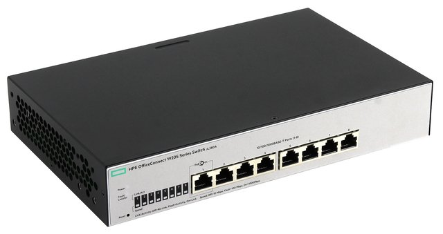 SWITCH HPE 8P OFFICECONNECT 1920S-8G 16GBPS 11.9 MPPS JL380A - comprar online