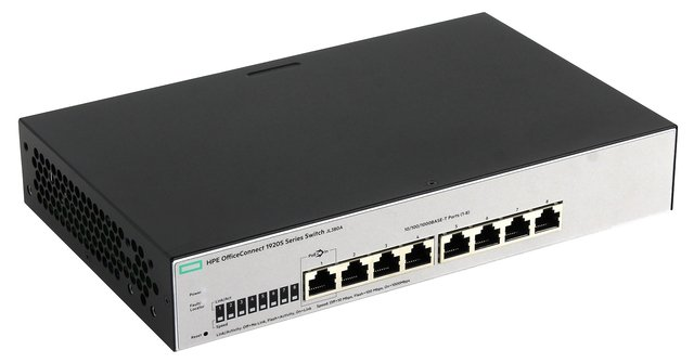 SWITCH HPE 8P OFFICECONNECT 1920S-8G 16GBPS 11.9 MPPS JL380A - Exxa Store