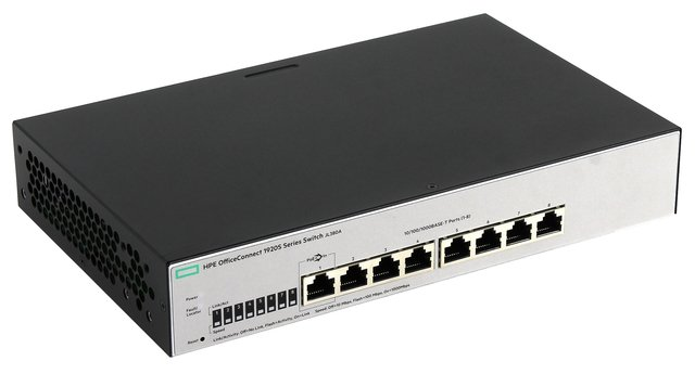 Imagen de SWITCH HPE 8P OFFICECONNECT 1920S-8G 16GBPS 11.9 MPPS JL380A