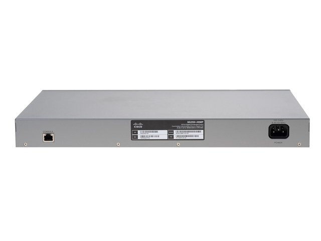 SWITCH CISCO 24P SG350-28MP GIGABIT POE+ MANAGED RACK K9-AR - tienda online