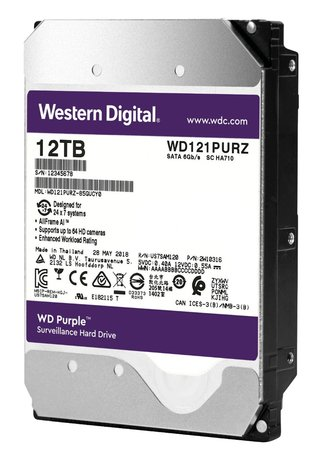DISCO RIGIDO 12TB WD PURPLE 256MB 7200RPM 3.5 SATA - comprar online