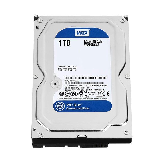 DISCO RIGIDO 1TB CAVIAR WD BLUE SATA 6GB/S 7200RPM 64MB