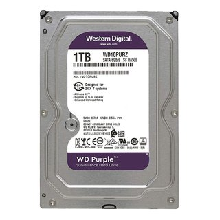 DISCO RIGIDO 1TB WD PURPLE SATA3 6GB/S 64MB 3.5 5400RPM