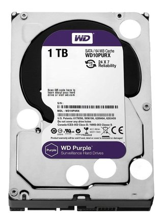 DISCO RIGIDO 1TB WD PURPLE SATA3 6GB/S 64MB 3.5 5400RPM - comprar online