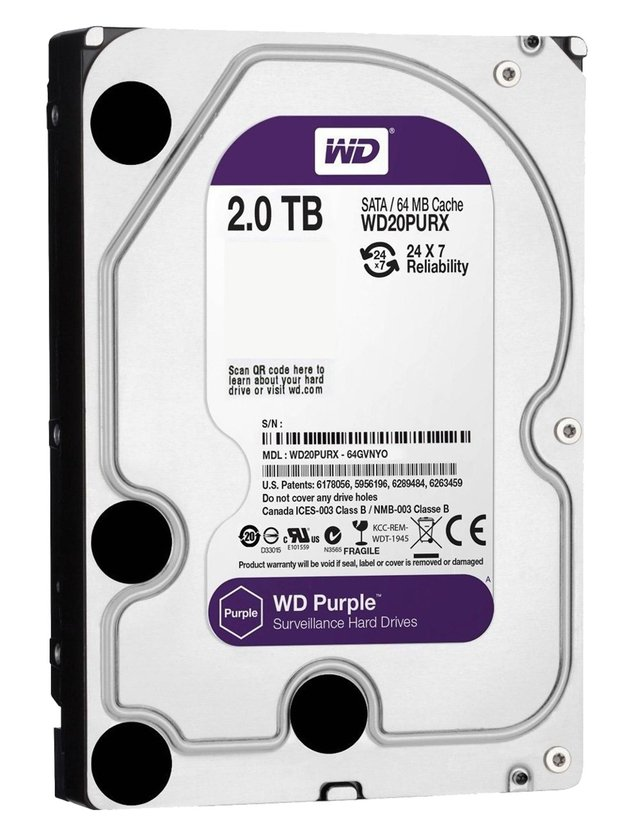 DISCO RIGIDO 2TB WD PURPLE SATA3 3.5 6GB/S 64M 5400RPM