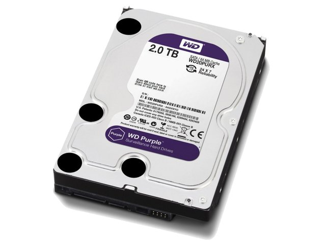 DISCO RIGIDO 2TB WD PURPLE SATA3 3.5 6GB/S 64M 5400RPM - Exxa Store