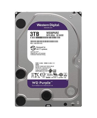 DISCO RIGIDO 3TB WD PURPLE SATA3 3.5 6GB/S 64MB 5400RPM