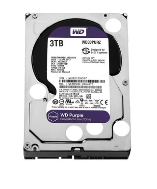 DISCO RIGIDO 3TB WD PURPLE SATA3 3.5 6GB/S 64MB 5400RPM - comprar online