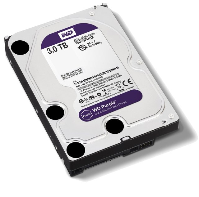 DISCO RIGIDO 3TB WD PURPLE SATA3 3.5 6GB/S 64MB 5400RPM en internet