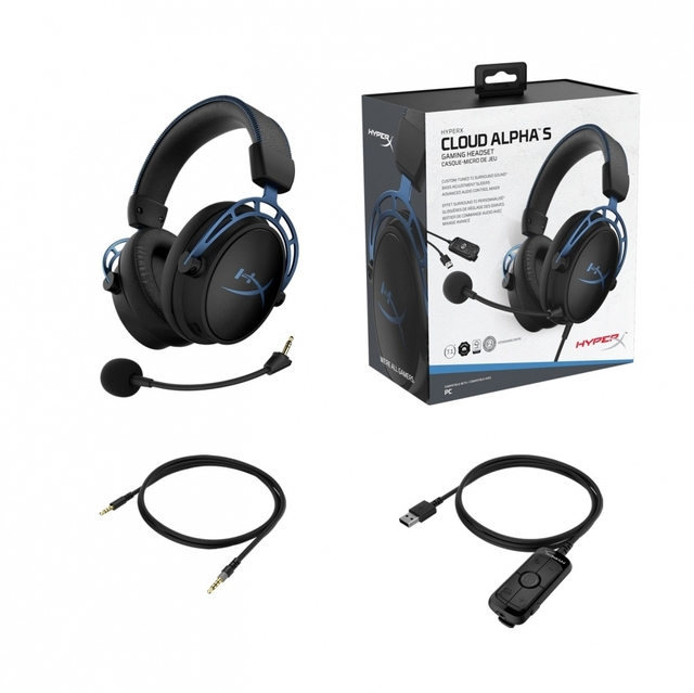 AURICULARES HYPERX CLOUD ALPHA S 7.1 VIRTUAL AZUL CABLE 1M en internet