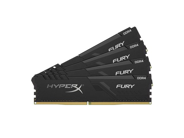 MEMORIA KINGSTON 4GB DDR4 2666MHZ HYPERX FURY BLACK CL16 - Exxa Store