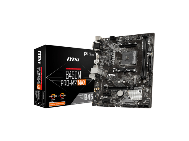 MOTHERBOARD MSI B450M PRO-M2 MAX BOX M-ATX AM4
