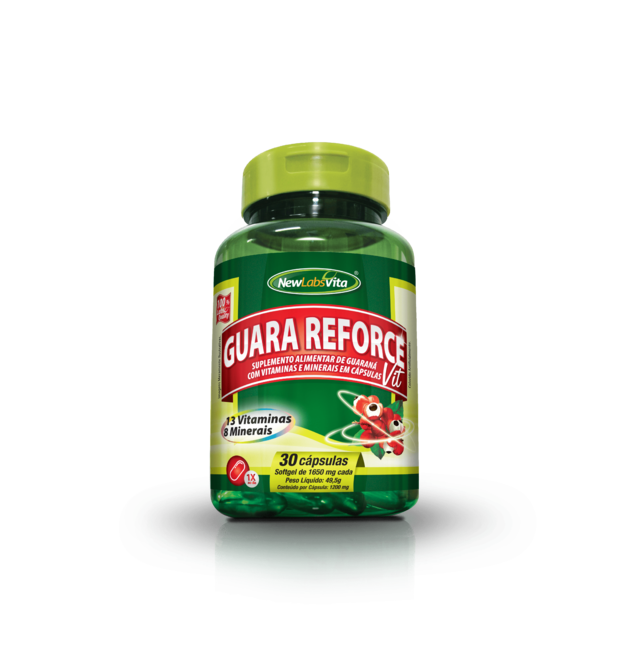 Guara Reforce Vit - 30 Cáps - 1200mg (New Labs Vita)