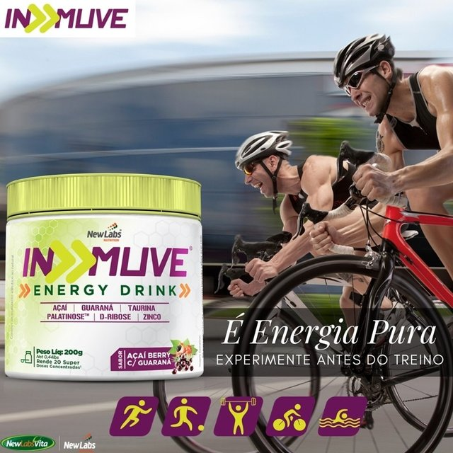 In Muve - Sabor Açaí Berry e Guaraná - 200g (New Labs Nutrition) na internet