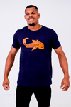 Camiseta Black Blue Carpa Laranja