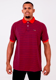 Gola Polo Black Blue Listras