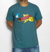 Camiseta Black Blue Big Carp Cian