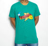 Camiseta Black Blue Big Carp Green beach