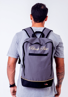 Mochila Black Blue Square Black na internet