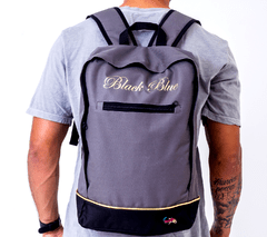 Mochila Black Blue Square Black