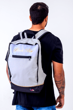 Mochila Black Blue Square White na internet
