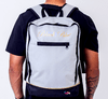 Mochila Black Blue Square White