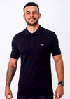 Gola Polo Black Blue Pima