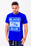 Camiseta Black Blue Square