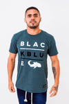 Camiseta Black Blue Underline