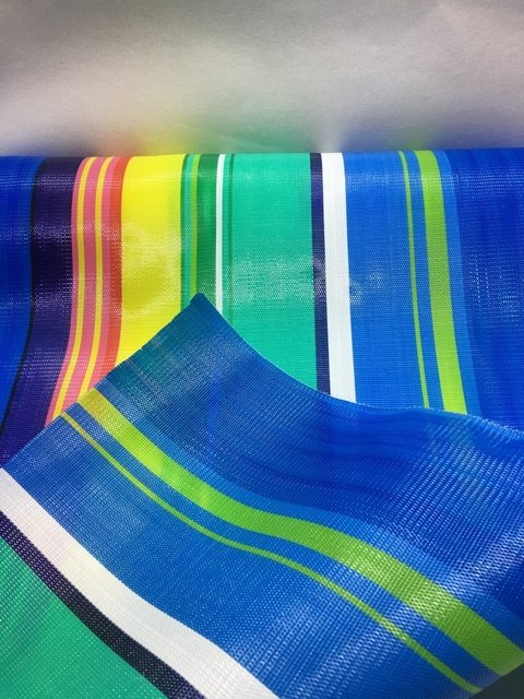 Tela de nylon color Azul - 1 mt