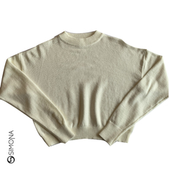 Sweater cropped Blanco - comprar online