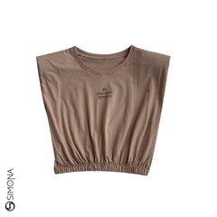 Remera Be the best edition Nude