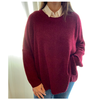 Maxi sweater Bordo