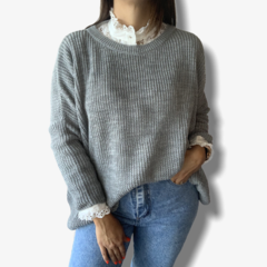 Maxi sweater Gris en internet