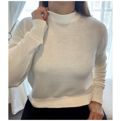 Sweater cropped Blanco