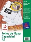 Folios Avery 90010 A4 Polip.90mic Paq.x10 Mayor Capacidad