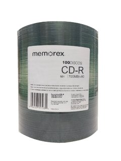 CD Virgen Memorex Pack X100 700MB 52X en internet