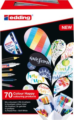 Set de 69 Marcadores Edding Colour Happy Degrade 190 Tonos