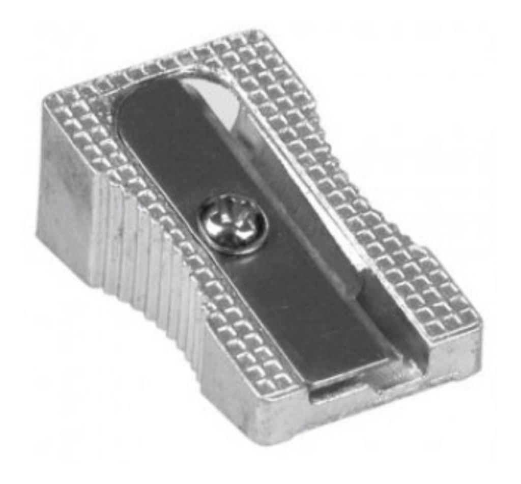 Sacapuntas Metal Metalico 1 Cuchilla (Pack x 6 Unidades)