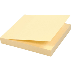 Notas Adhesivas Taco Sticky Notes 75X75mm X100hs Amarillo Packx12U en internet