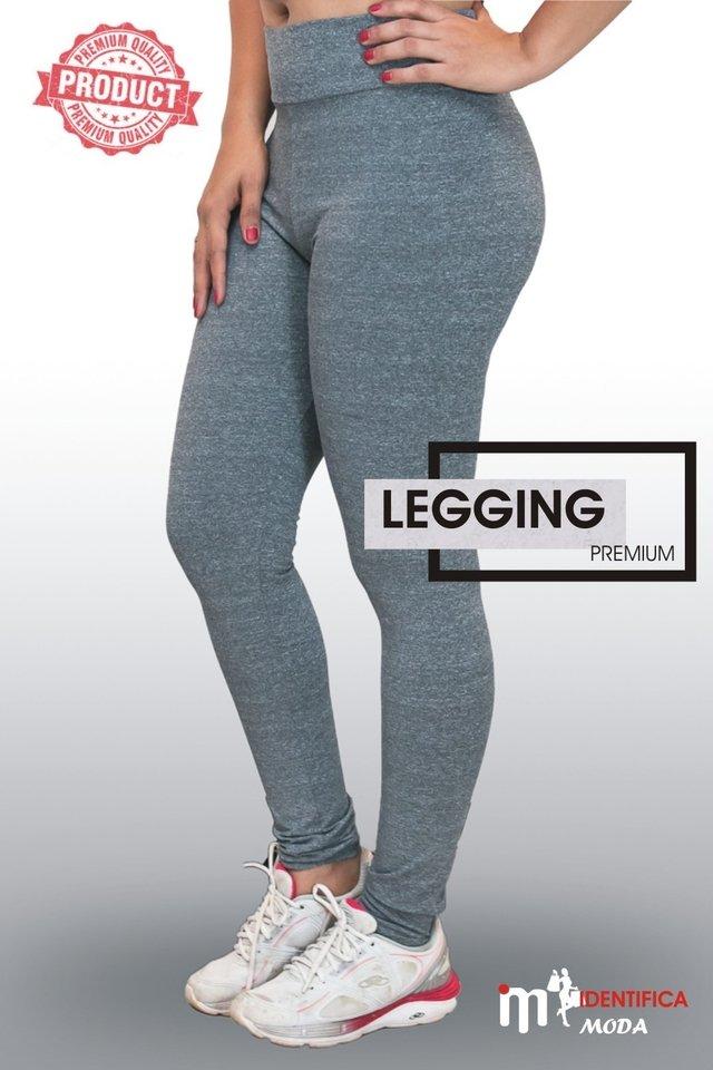 668069b3e2 Calça Legging Academia Cintura Alta Fitness Cinza | (Mescla) | Ref: LEGPE01  Promoção !!!