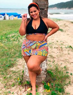 Top Floral Amarelo Plus Size - Divas Plus