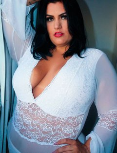 Body Illusion Manga Longa Branco Plus Size