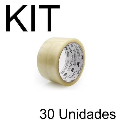 Kit Com 30 Fitas Adesivas 3m Larga 70mm X 100m Pelego Box
