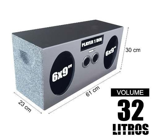 Caixa De 69 + Cd Player 1 Din Pelego Box Dutada 32 Litros