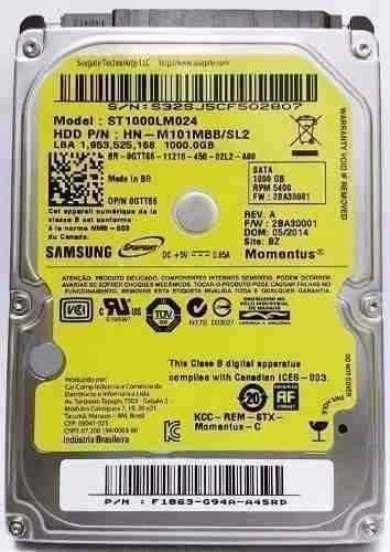 NB HD SATA 1000 GB SAMSUNG